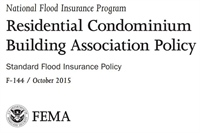 NFIP Residential Condominium Building Association Policy (RCBAP)