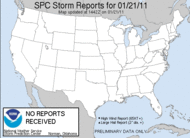 Yesterday's Storm Reports